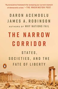 The Best Politics Books of 2020 - The Narrow Corridor: States, Societies, and the Fate of Liberty by Daron Acemoglu and James Robinson