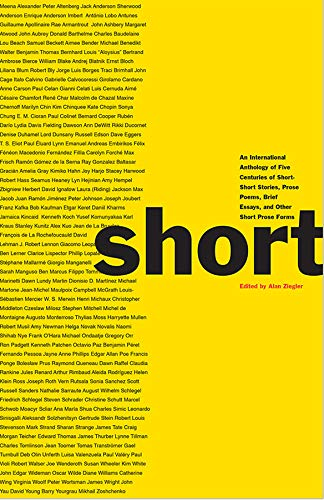 Short: An International Anthology Alan Ziegler (editor)