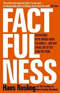 The best books on GDP - Factfulness: Ten Reasons We're Wrong About The World — And Why Things Are Better Than You Think by Hans Rosling