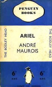 Clare Morpurgo on Penguin Paperbacks - Ariel by Andre Maurois