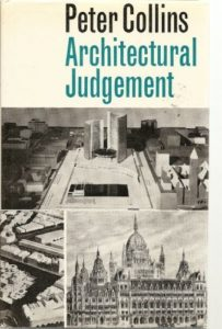 The best books on Architecture and Aesthetics - Architectural Judgement by Peter Collins